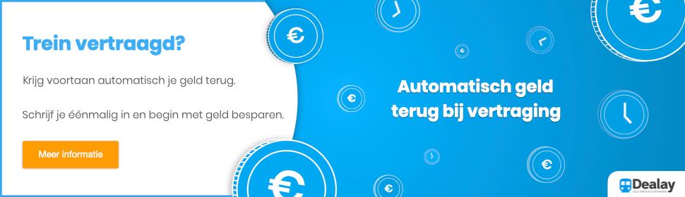 Automatisch geld terug bij vertraging - meld je aan