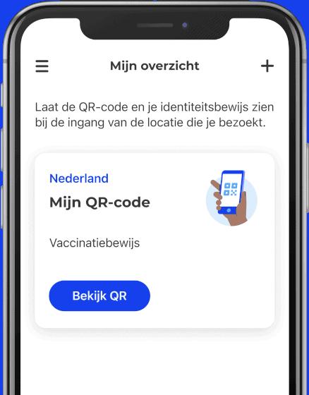 Screenshot van CoronaCheck app