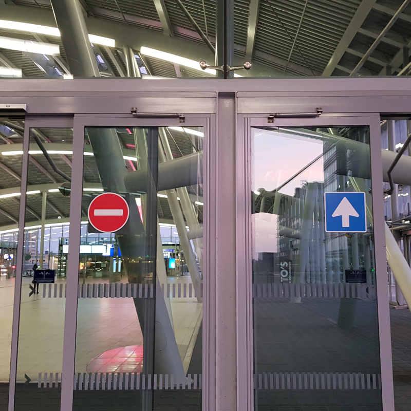 Eenrichtingsverkeer op het station
