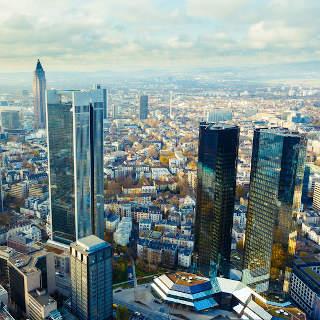 Wolkenkrabbers in Frankfurt