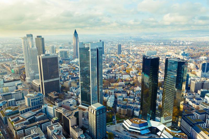 Wolkenkrabbers van Frankfurt