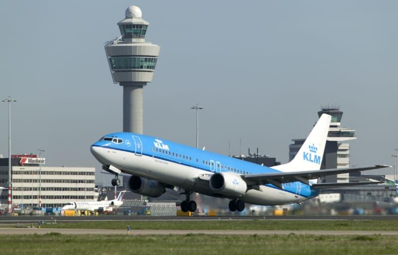 KLM vliegtuig vanaf Schiphol
